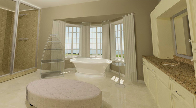 Bathrooms traditional-rendering
