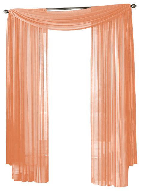 Hlc me sheer curtain window peach panel traditional