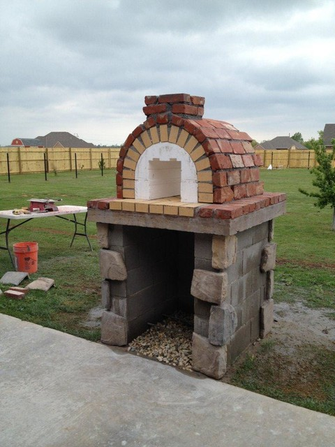 The moon family diy wood fired pizza oven in oklahoma by for Garden ovens designs
