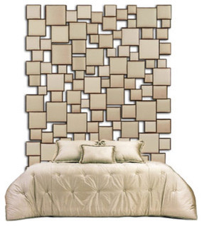 Upholstered Squares Head Board contemporary headboards