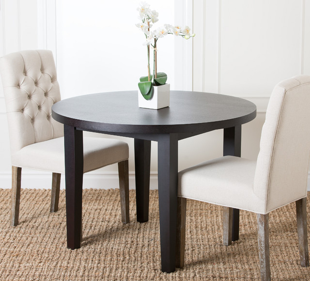 Abbyson living casablanca 42 inch round espresso dining for 42 inch round dining table