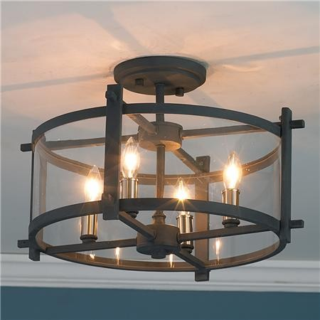 Clearly modern semi flush ceiling light shades of light for Living room ceiling lights