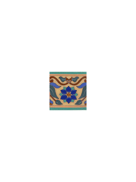 Handpainted Ceramic Tile Old California Collection - Item CB020