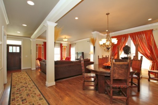 Open Living and Dining Area by Jeffrey Design LLC traditional-dining-room