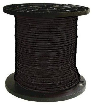 Southwire 500 ft. 6 Stranded THHN Black Cable 20493301 contemporary-gardening-tools