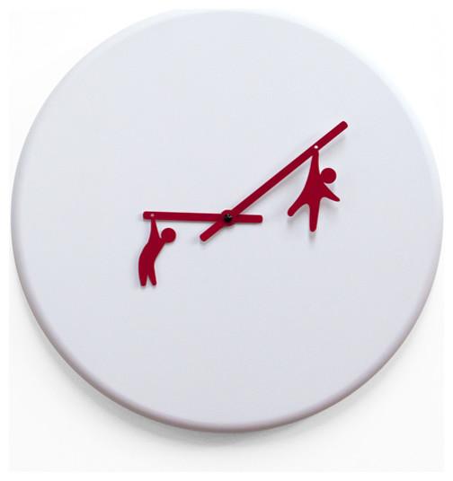 Contemporary White Cuckoo Clock American Hwy