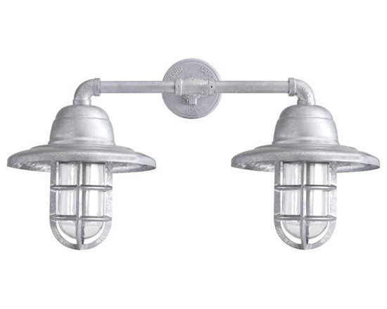 Barn Light Electric Co. - Atomic Double Market Industrial Guard Sconce -