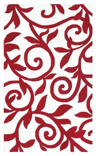 Walt Disney Filigree Red Outdoor Rug traditional-outdoor-rugs