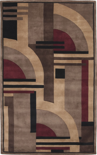 Nourison Dimensions ND09 5' x 8' Multi Rug contemporary-rugs