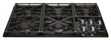 "Dacor Renaissance 36"" Gas Cooktop, Black Natural Gas | RGC365BNGH cooktops"