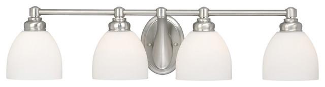 Stockholm Brushed Nickel 4 Light Vanity traditional-bathroom-vanity-lighting