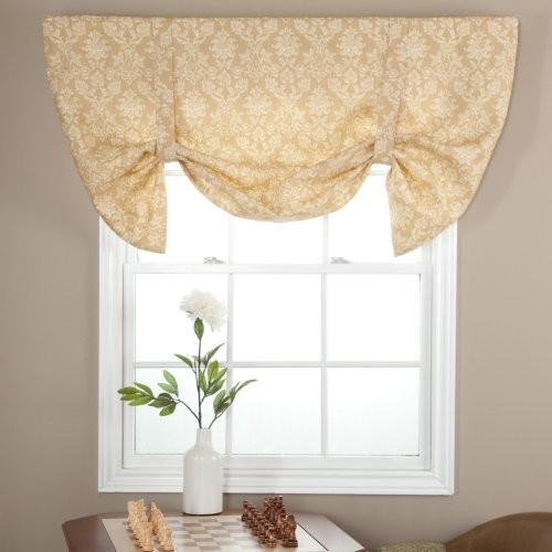 Ellis Curtain Farley Lined Duchess Tie Up Valance traditional-curtains