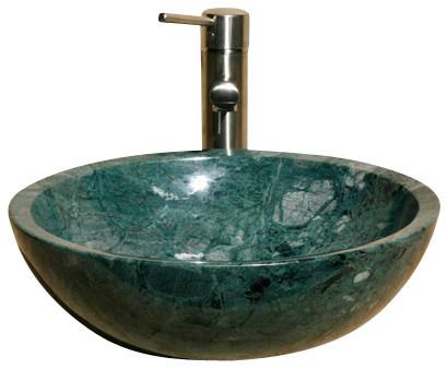 V Vr166 India Green Polished Vessel Sink Traditional