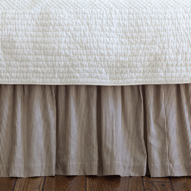 Farmhouse Stripe Twin Bed Skirt Traditional Bedskirts
