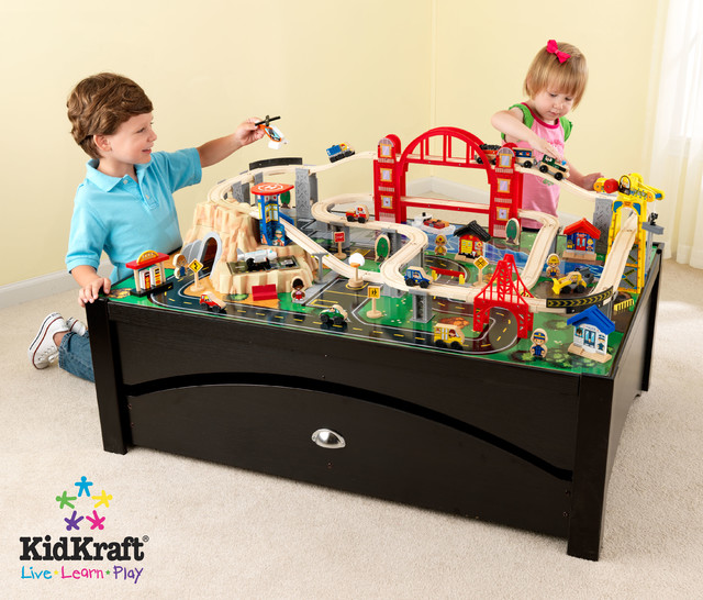Kids Toy Train Kidkraft Metropolis Table Set
