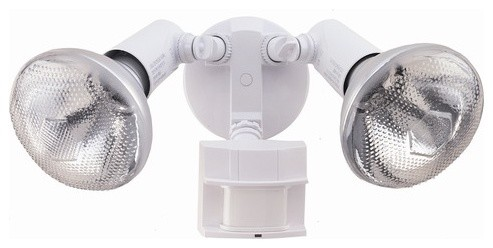 150 Degree Motion Activated Twin Flood Security Light in White modern lighting