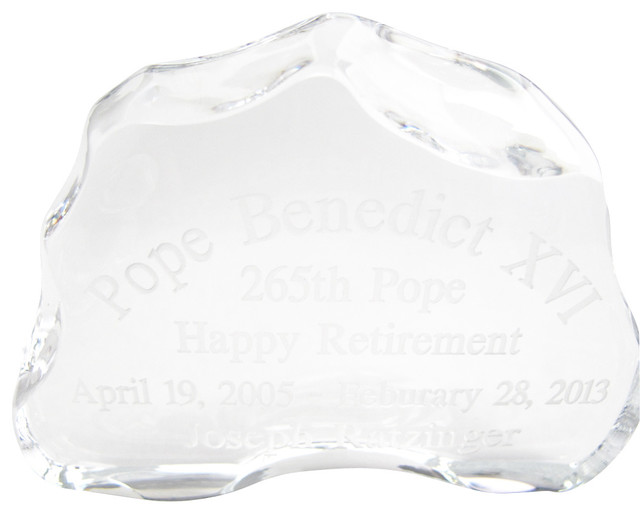 24% lead crystal inspirational paperweight made in USA, Etched traditional-home-decor