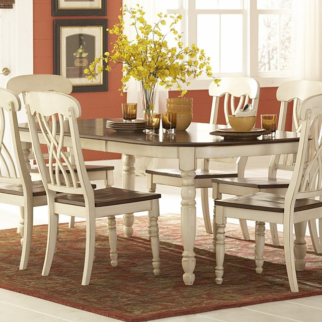 Ohana Dining Table With Leaf White Cherry