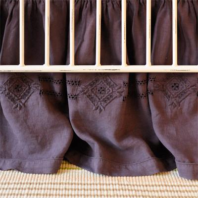 Matteo Baby Bedding Folk Crib Skirt traditional-baby-bedding