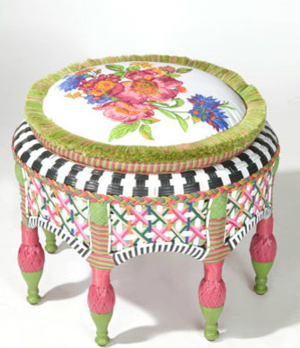 Flower Market Ottoman eclectic ottomans and cubes
