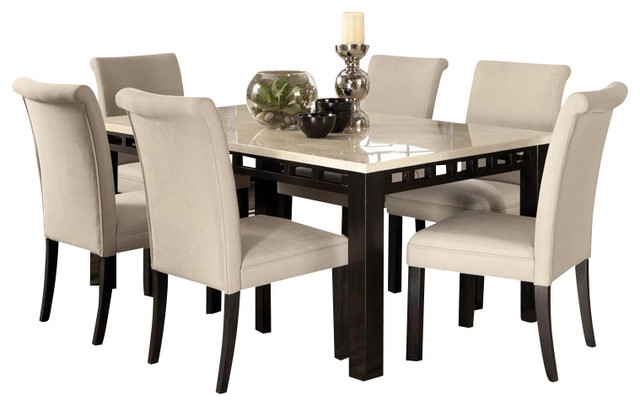 Standard Furniture Gateway White 8 Piece Dining Room Set