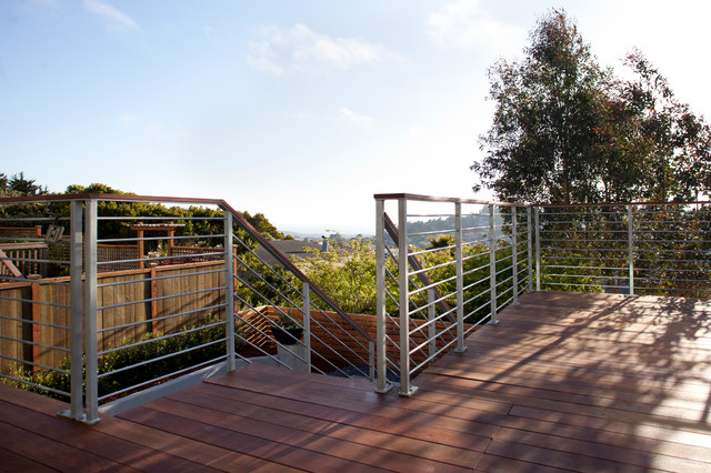 Ipe Deck Amp Galvanized Steel Railings Contemporary Deck
