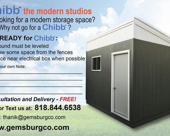 Chibb Modern Style Shed -