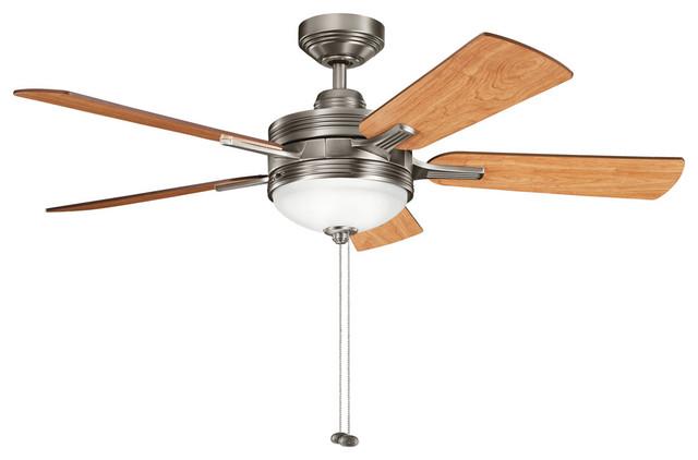 Kichler Lighting 300148AP Logan 3 Light Indoor Ceiling Fans in Antique Pewter transitional-ceiling-fans