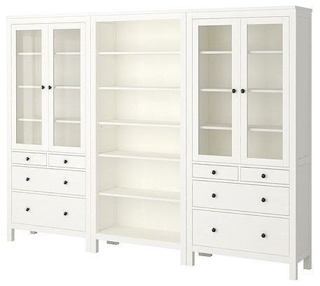 HEMNES Storage Combination traditional bookcases cabinets and computer armoires