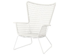 Högsten Armchair, White contemporary outdoor chairs