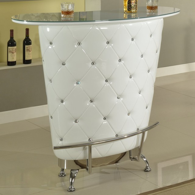 Nolita Modern Home Bar White Contemporary Indoor Pub And Bistro Tables By Modern