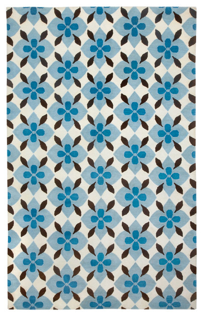 Coco's Flower rug in Peacock Brown rugs