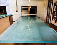 Elements recycled glass countertops modern kitchen for Tempered glass countertop