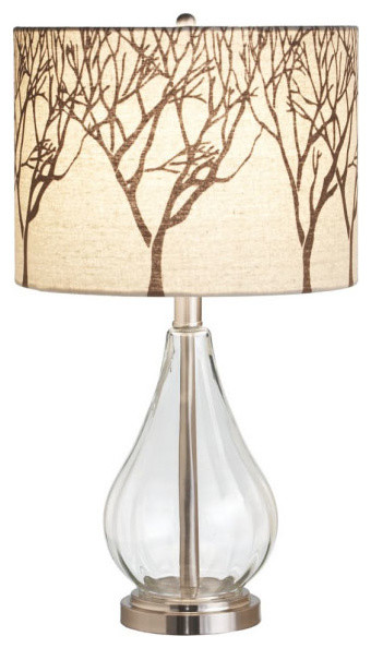 glass tree shade lamp modern table lamps by dot bo. Black Bedroom Furniture Sets. Home Design Ideas