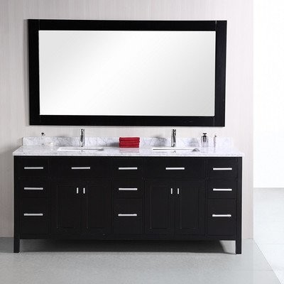 "London 78"" Double Sink Vanity Set in Espresso modern-bathroom-vanities-and-sink-consoles"