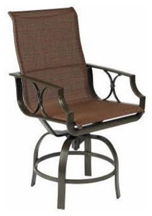 Winston Exeter Sling Swivel Balcony Height Stool modern-bar-stools-and-counter-stools