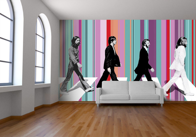 beatles abbey road wallpaper contemporary wallpaper On beatles wall mural