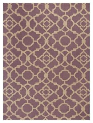 """Area Rug: Chateau Purple/Beige 2' 3"""" x 3' 9"""" contemporary-rugs"""