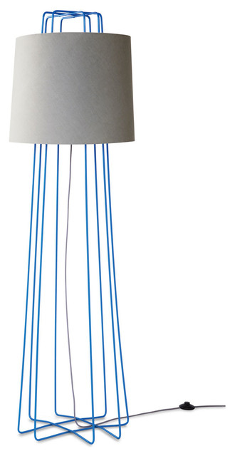 floor lamp bright blue grey modern floor lamps by blu dot. Black Bedroom Furniture Sets. Home Design Ideas