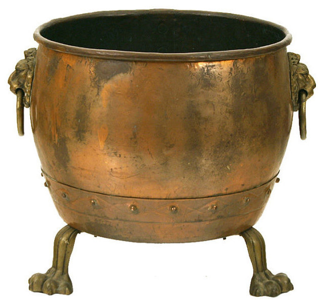 A Continental Arts And Crafts Copper And Brass Planter