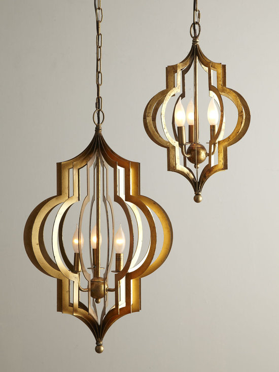 Lighting - Period-inspired chandelier refreshes the room with vintage chic. Its repeating quatrefoil design fans out in 360 degrees for a look that is infinitely appealing from any side.