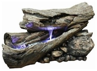 Rainforest Outdoor Waterfall Fountain eclectic outdoor fountains