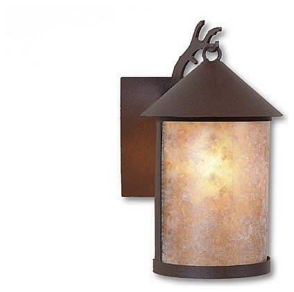 Rustic Cascade Lantern Sconce Small eclectic-outdoor-wall-lights-and-sconces