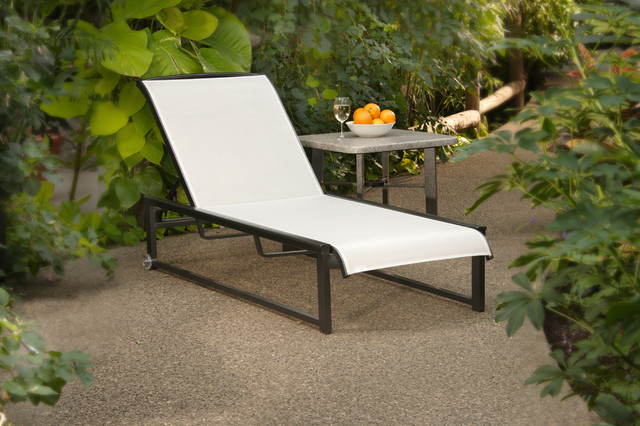 Hauser contempo outdoor chaise lounge contemporary patio for Chaise longue toronto