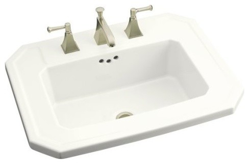 """KOHLER K-2325-8-0 Kathryn Self-Rimming Lavatory with 8"""" Centers contemporary-bathroom-sinks"""
