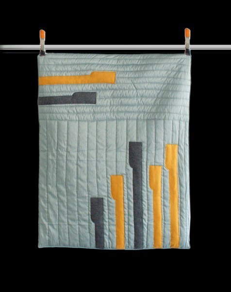 Got Me in Stitches Piano Drum Modern Baby Quilt contemporary-quilts-and-quilt-sets