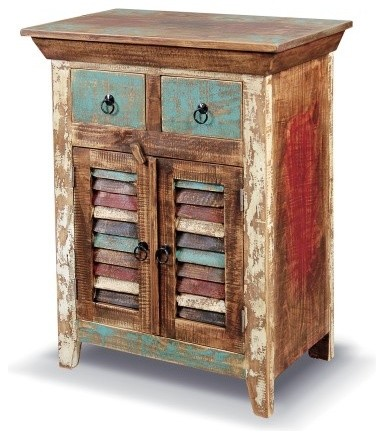 Rustic Distressed Reclaimed Solid Wood Curio Cabinet. - Rustic - Accent Chests And Cabinets - by ...