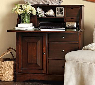 Graham Secretary with Smart Technology(TM), Mahogany stain traditional-desks-and-hutches