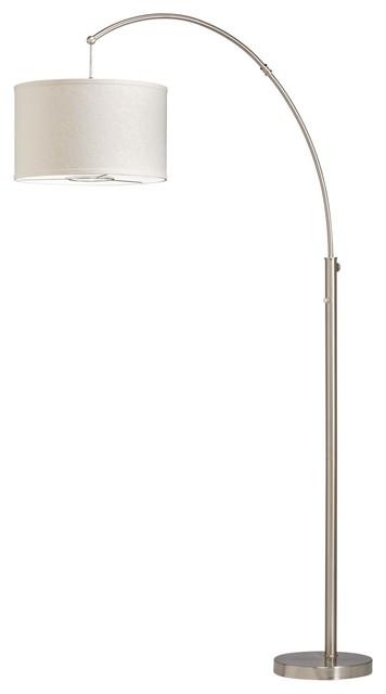Kichler Lighting 74265NI Transitional Arc Floor Lamp contemporary-floor-lamps