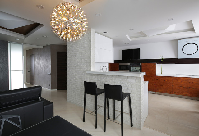 flat in moscow modern-kitchen